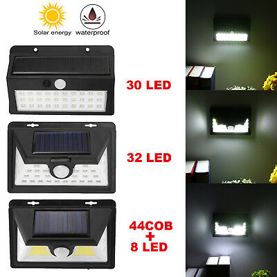 30-LED Solar Power Light  PIR Motion Sensor Wall Outdoor Garden Lamp Waterproof