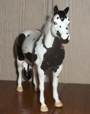 "Black Horse Ranch (BHR) Ceramic Special Ozone Paint Horse Figurine, 5"" Tall"