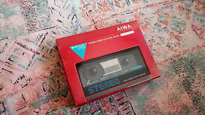 AIWA HS-P05 Personal Cassette Player Red Vintage
