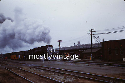 Southern Pacific Railroad Steam Engine 4446 - 7/24/1955 35mm Train Slides