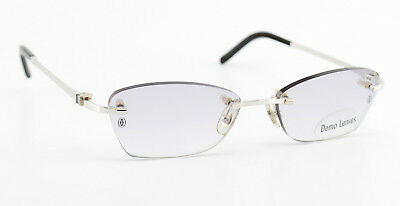 2e457e6b55 CARTIER PLATINUM RIMLESS Eyeglasses T8100630 Frames Rxable Authentic ...