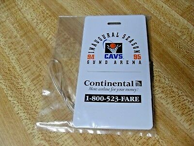 1994-95 Cleveland Cavs Cavaliers GUND ARENA - Continental Airlines Luggage Tag