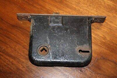 Antique Vintage Unmarked Cast Iron Mortise Lock NO KEY Restore Reclaimed