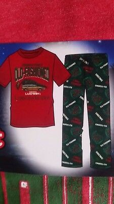 National Lampoon Mens 2 PIECE PAJAMA Set Griswold Christmas Vacation MEDIUM 01ca753e1