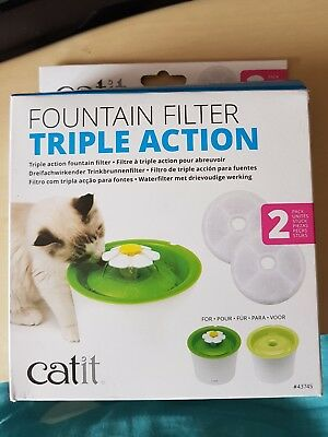 catit water fountain filters bnib 2 pack triple filter