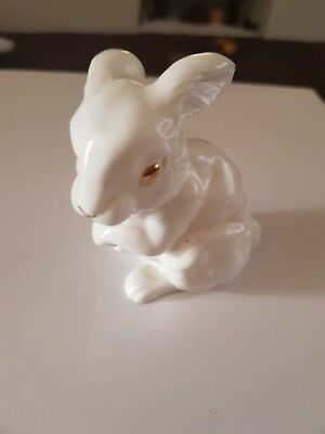 White Rabbit China Ornament