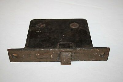 Antique Vintage Unmarked Cast Iron Mortise Lock NO KEY Restore Reclaimed ( L3)