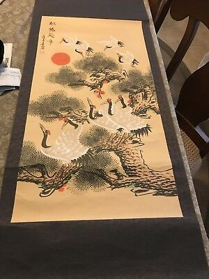 japanese scroll painting antiques
