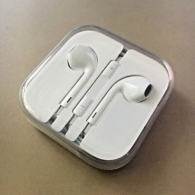 Authentic Apple Earpods w/ Remote and Mic BRAND NEW iphone 3.5mm headphones jack