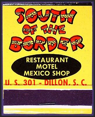 CADDY MINT 1960s South of the Border Route 301 - 20s Full Match Book - Dillon SC