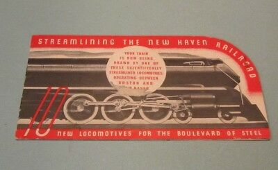1937 New York and New Haven Railroad Company Advertising Brochure Facts Photos