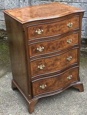 Superb Small Antique Style Walnut Chest Of Drawers Fab Condition We Deliver