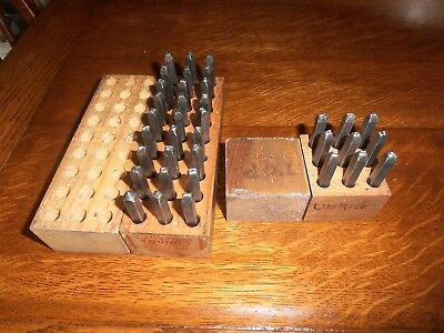 "Youngs 1/8"" Steel Stamps Machine Made  Letters & Numbers"