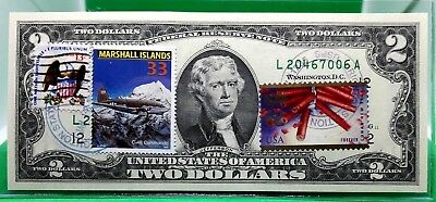 Money Us $2 Dollars 2009 Federal Reserve Star Note Aircraft C 46 Commando