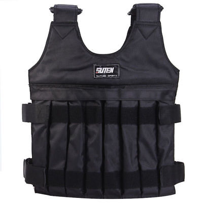 20KG Weighted Vest Adjustable Weight Vests MMA Gym Strength Training Exercise