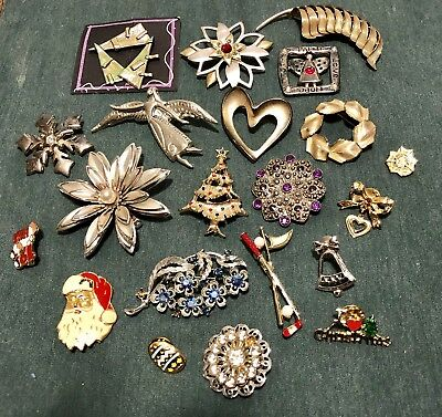Lot Of Pre-owned Vintage To Modern Brooches / Pins