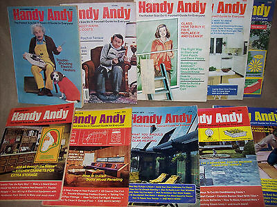 Handy Andy vintage lot of 10 1978-79-80 DIY Magazines see last picture