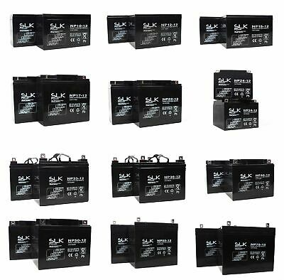 MOBILITY SCOOTER BATTERIES 2 x AGM/GEL 12v 12AH 15AH 33AH 36AH 40 50AH 55 75AH