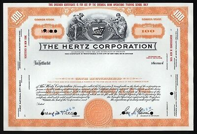 The Hertz Corporation - 100 Shares (Specimen)