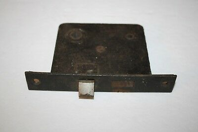 Antique Vintage Unmarked Cast Iron Mortise Lock NO KEY Restore Reclaimed ( L4)