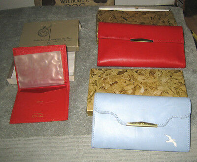 Womens VINTAGE Wallet LOT OF 3 NEW - Vitronic Line x 2 + DayTimers - Estate Sale