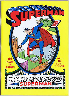 SUPERMAN #1 Masterpiece Edition Reprint of 1939 DC comic 1999