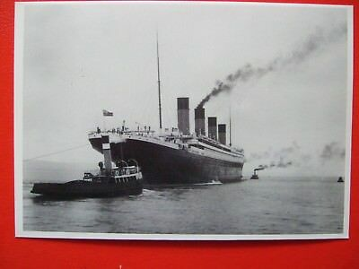 Titanic Postcard- The Titanic Heading Out For Trials (1912)