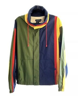ccb5896377fdb Vintage NAUTICA Sailing Jacket Multi-Colored Striped Men s Large New with  Tags