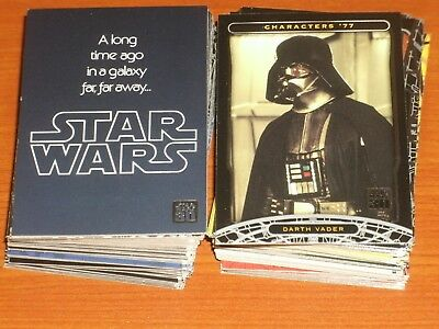 STAR WARS 30th Anniversary Complete Base Set Of 120 Trading Cards Lucas, Vader