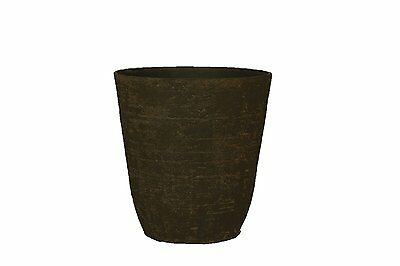 """Stone Light Antique AT Series Cast Stone Planter(Pack of 2)13.5 x 15""""Sandal Wood"""