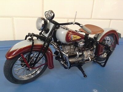 Danbury Mint 1938 Indian Four Diecast Motorcycle - 1/10 Scale
