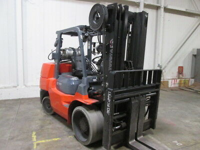2013 Toyota 7Fgcu70 15,000Lb Rigger Style Forklift Lpg Low Hour Tall Lift