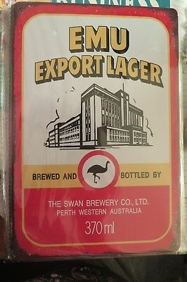 emu export lager beer SIGN MAN CAVE SIGN