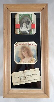 Kansas Cigar Box Labels - Westphalia Cigar Factory - Framed