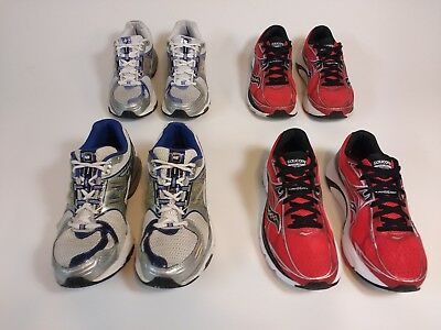 New Balance 1225 and Saucony Mirage 5 Men's Running Shoes Size 8 Lot of 4