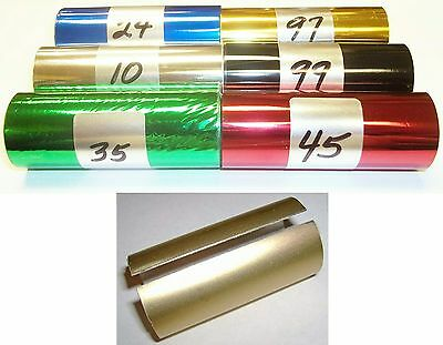 6 rolls of Hot Stamping Foil Kingsley Howard Printing & Graphic Arts Stamping & Embossing 3 X100ft,1/2 in.core GOLD/SILVER