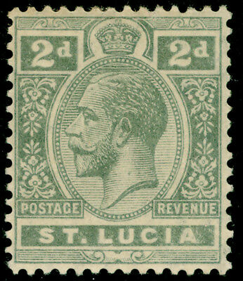 ST. LUCIA SG80, 2d grey, M MINT.
