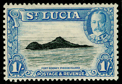 ST. LUCIA SG121, 1s black & light blue, M MINT.