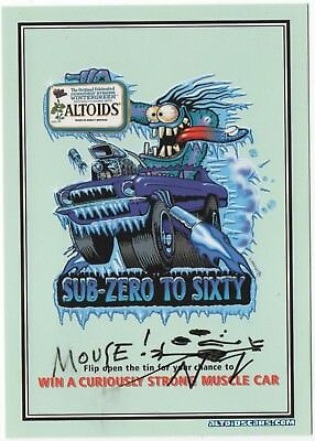 Original Stanley Mouse  Altoids Postcard Sub Zero To 60 Old School Signed Mouse!