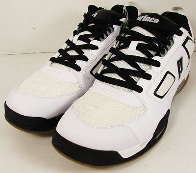 Prince Mens NFS Assault Indoor Court Sneaker Shoes, White/Black/Silver, US 15