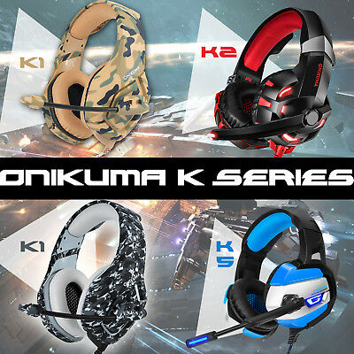 K1/2/5 Gaming Headset for PS4 New Xbox One PC Stereo Surround LED Headphones+MIC