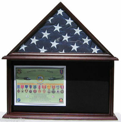 Defect-Shadow Box Flag Display Case for 5'X9.5' Funeral Memorial Flag DF2-FC07