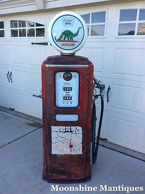 1950's SINCLAIR Dino Gasoline Tokheim GAS PUMP - Patina Rustoration Mancave