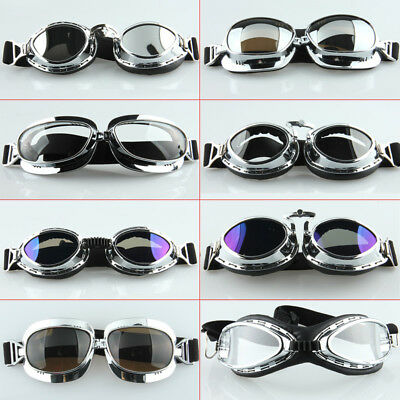Motorcycle Goggles Flying Scooter Anti-Fog Aviator Pilot Glasses For Harley