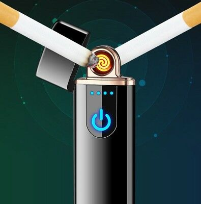 NEW Electric Lighter, Touch Screen, Flame-less, USB Rechargeable, For Cigarettes