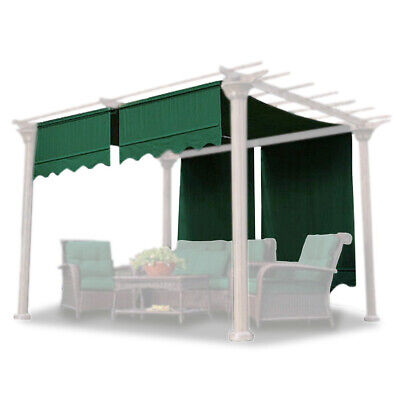 2pcs Pergola Canopy Replacement Cover Gazebo Yard Valance 15.5x4Ft Green
