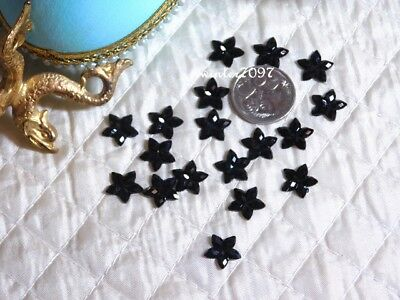 (386)*costume Makers Sellout*flat Back Jewels*flowers*black*new!*