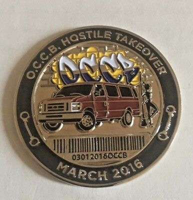 Nypd Challenge Coin Occb Hostile Takeover March 2016