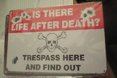 is there life after death metal sign MAN CAVE brand new