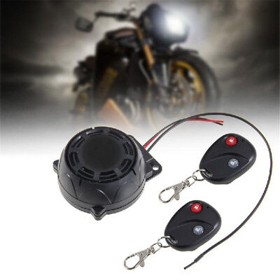 Motorcycle Burglar Alarm Dual Remote Controls 120-125dB Horn Strong Noise Proof